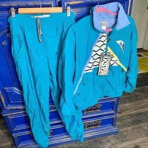 New! Vintage 90s Tracksuit Windbreaker & Pants M
